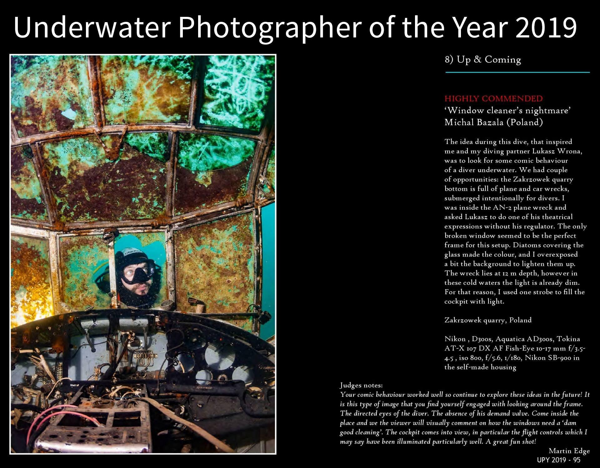 Jestem w Underwater Photographer Of The Year 2019!